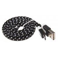 Micro-USB 2.0 кабель плетеный 1м