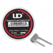 Готовая спираль Youde Staggered Fused Clapton 0,15 Ом|1шт