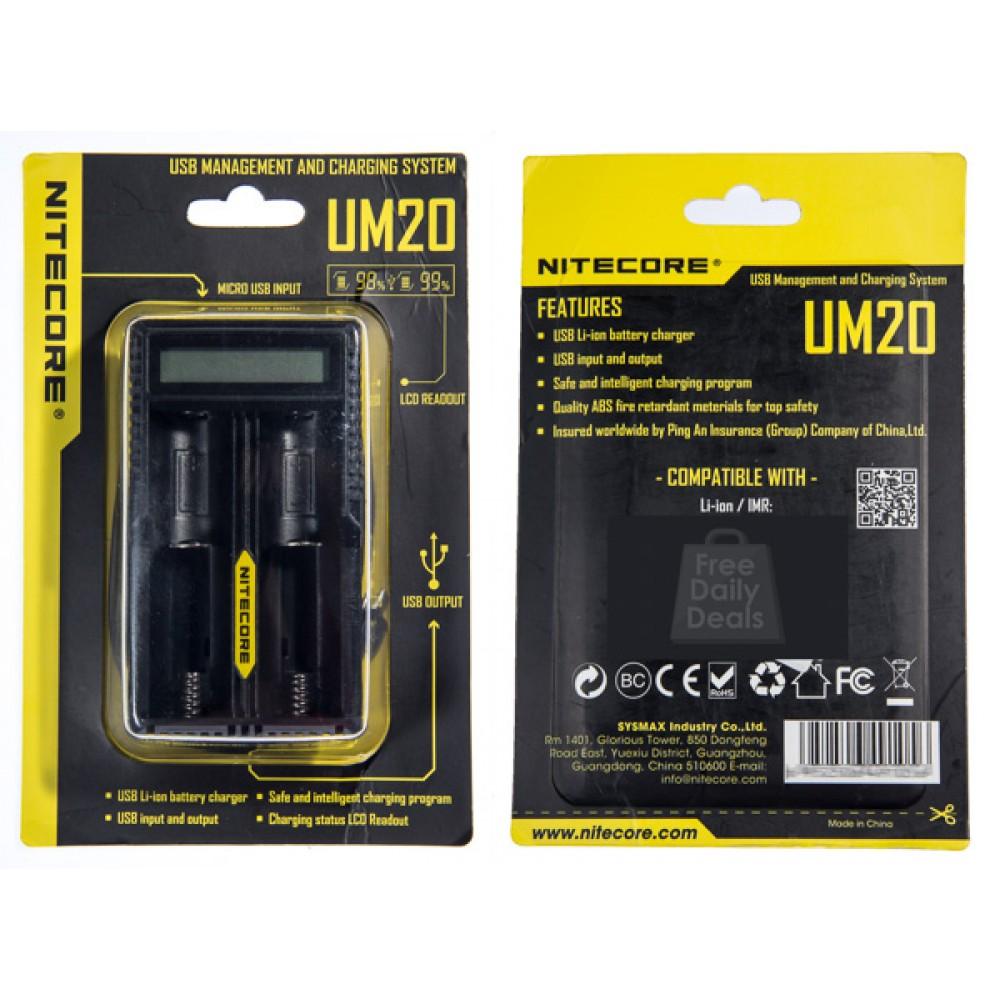 фото — Зарядное устройство Nitecore UM20