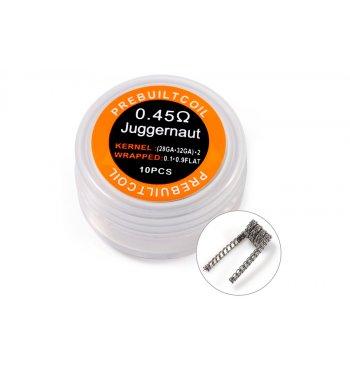 Готовая спираль Kanthal A1 Juggernaut Coil 0.45 Ом (1шт)